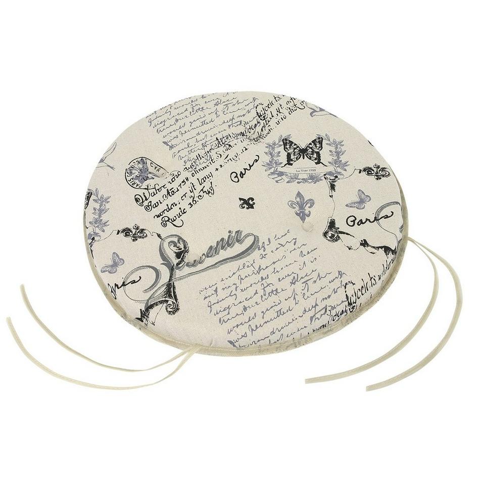 BELLATEX Sedák kulatý hladký DANA Dopis 40 cm