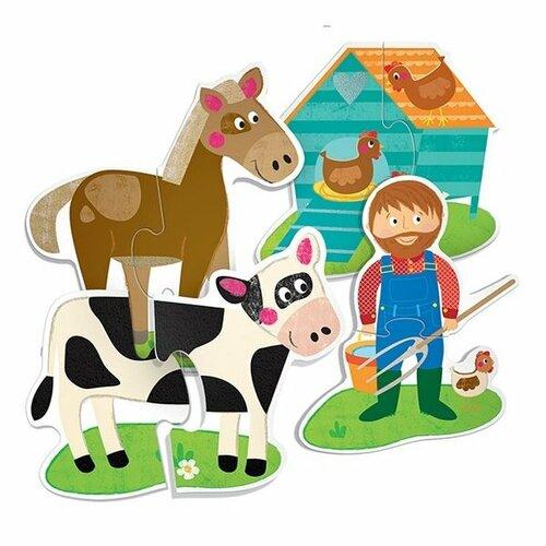 Headu Hmatové puzzle Farma 19x 2 dieliky (Montessori)