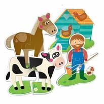Headu Hmatové puzzle Farma 19x2 dílky (Montessori)