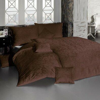 Matějovský márkájú Lolita damaszt ágynemű, barna, 140 x 220 cm, 70 x 90 cm