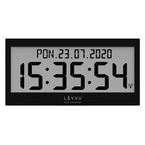 Lavvu LCX0011 digitální hodiny řízené rádiovým signálem Modig, černá