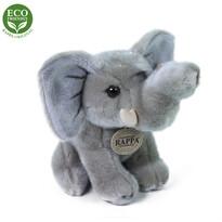 Rappa Plyšový sediaci slon, 18 cm