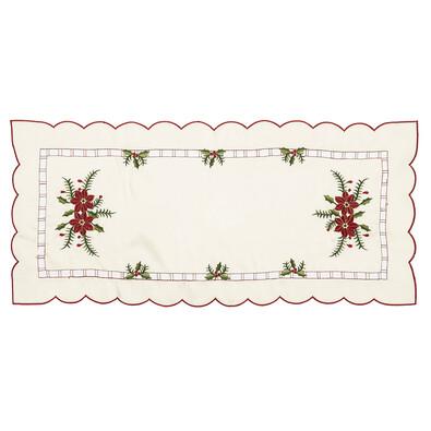 Vánoční ubrusový běhoun Cesmína, 37 x 86 cm