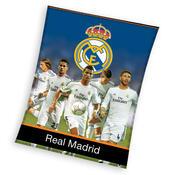 Fleecová deka Real Madrid Team, 130 x 170 cm