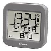Hama RC 130 Digitálny budík riadený rádiovým  signálom, sivá