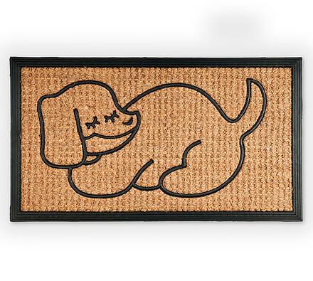 Venkovní rohožka Pes, 40 x 70 cm, béžová, 40 x 70 cm