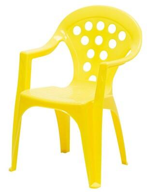 Dětská židle žlutá