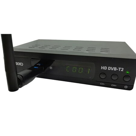 Maxxo T2 HEVC / H.265 Set-top box + WIFI adaptér