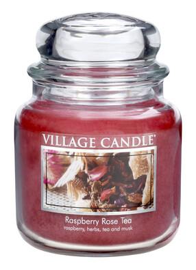 Village Candle Vonná svíčka Maliny a čajová růže  - Raspberry Tea Rose, 397 g