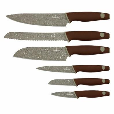 Berlinger Haus 6dílná sada nožů s mramorovým povrchem Granit Diamond Line