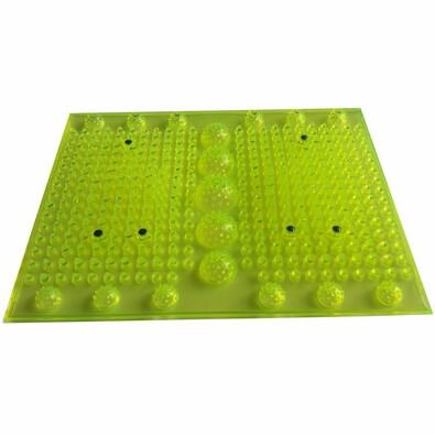 Akupresúrna masážna podložka s magnetmi, žltá