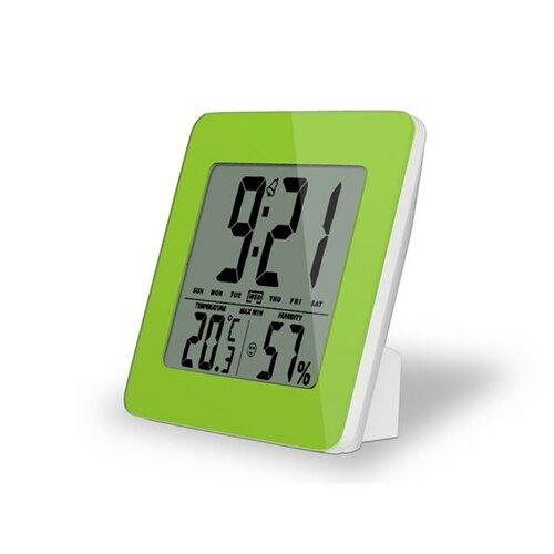 Solight teplomer, Teplota, vlhkosť, budík, LCD displej, pastelovo zelený rámček