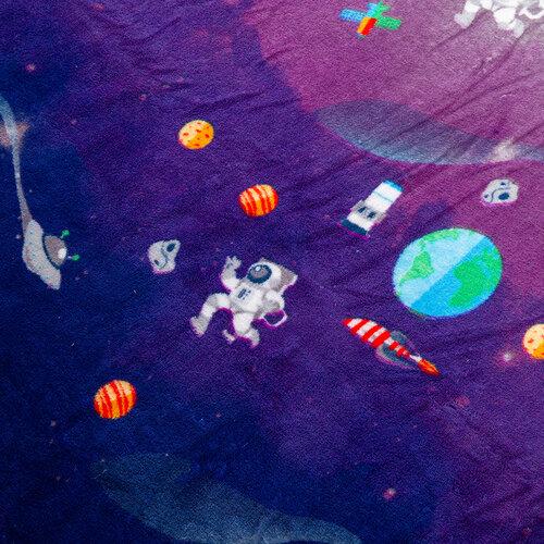 Domarex Koc SPACE niebieski, 150 x 200 cm