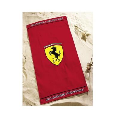 Osuška Ferrari Classic Logo Red, 75 x 150 cm
