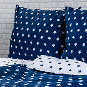 4Home Bavlněné povlečení Stars Navy blue, 140 x 200 cm, 70 x 90 cm