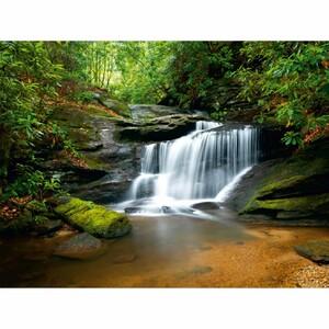 AG Art Fototapeta Řeka s vodopádem 360 x 270 cm, 4 díly