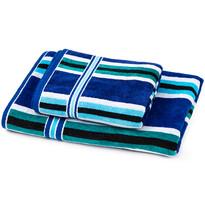 Sada Stripes Oceán 1 ručník a osuška, 70 x 140 cm, 50 x 90 cm