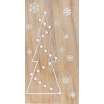 Svietiaca LED dekorácia Christmas Tree, hneda
