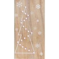 Svíticí LED dekorace Christmas Tree, hnědá