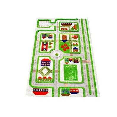 Dětský koberec 3D Traffic, 80 x 150 cm