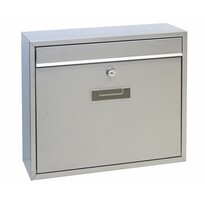 Poštovní ocelová schránka Tarent, stříbrná