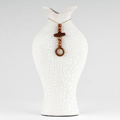 Váza keramická, 28 cm, bílá