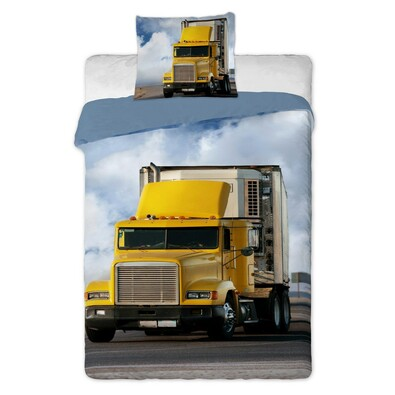 Bavlněné povlečení Kamion, 140 x 200 cm, 70 x 90 cm