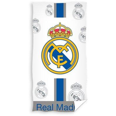Osuška Real Madrid Plateado, 75 x 150 cm