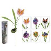 Solární svítidlo Květina s motýlem