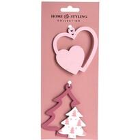 Komplet ozdób świątecznych Tree and heart, 2 szt.