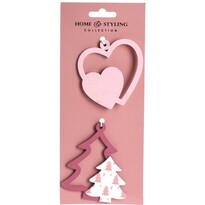 Sada vánočních ozdob Tree and heart, 2 ks