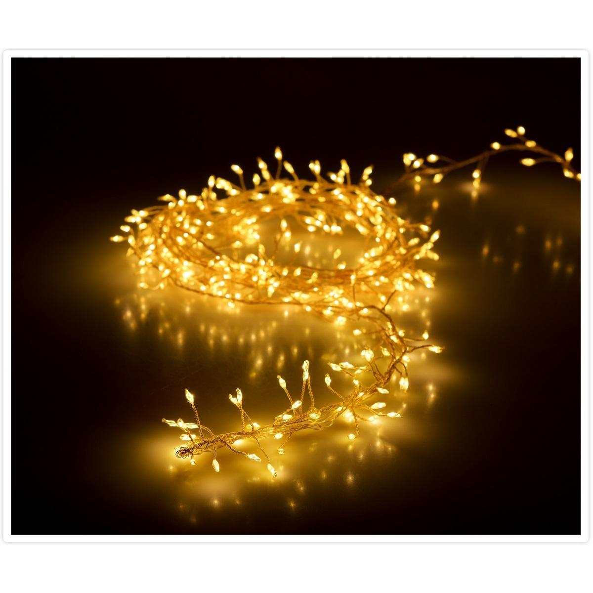 Světelný vánoční drát Martiel teplá bílá, 100 LED