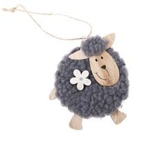 Dřevěná závěsná ovečka Bety, 10 cm