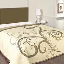 Narzuta na łóżko Dominic beżowy, 140 x 220 cm