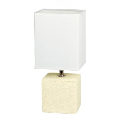 Stolná lampa izbová, krémová, Rabalux