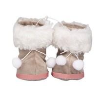 Altom Sada vánočních ozdob Sametové botičky 10 x 8 cm, šedá