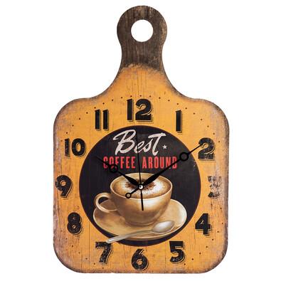 Nástěnné hodiny Dřevěné prkénko Coffee