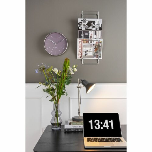 Karlsson 5732PU dizájner falióra, átmérő: 28 cm