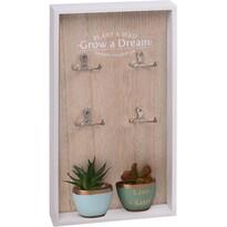 Skrinka na kľúče Grow a Dream, 40 x 20 cm