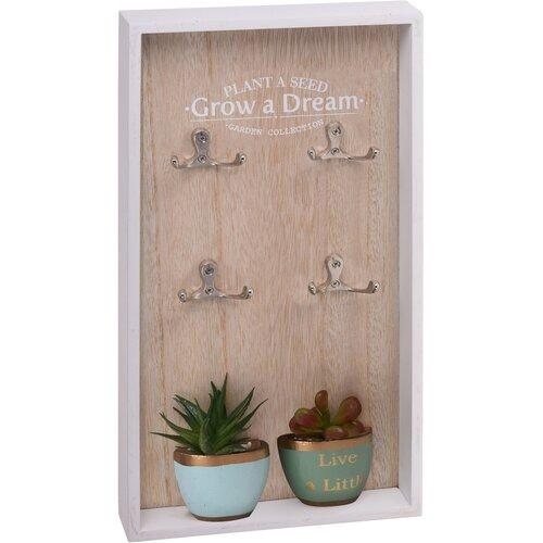 Skříňka na klíče Grow a Dream, 40 x 20 cm