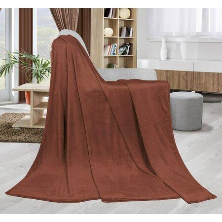 Bellatex Kemping Uni takaró, barna, 150 x 200 cm