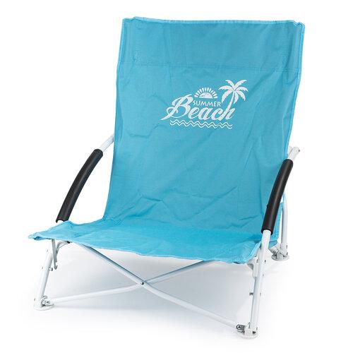 Krzesło plażowe, niebieski