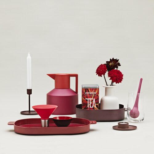 Sitko do herbaty Strainer 11,4 cm, czerwone