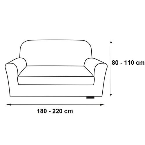 Husă multielastică Contra, pentru canapea, teracotta, 180 - 220 cm