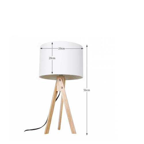 Stolná lampa Lila 1, biela