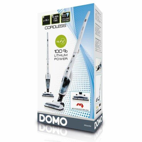 DOMO DO217SV cyklónový tyčový aku vysavač 2v1, bílá