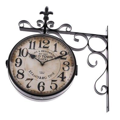 Obojstranné závesné kovové hodiny