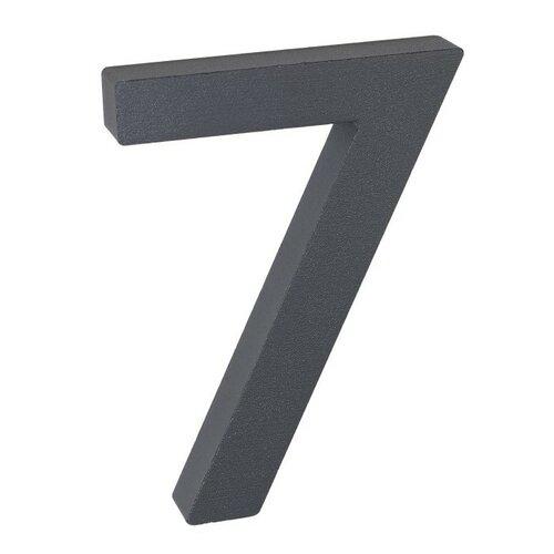 Număr aluminiu de casă 7, suprafață în relief 3D imagine 2021 e4home.ro