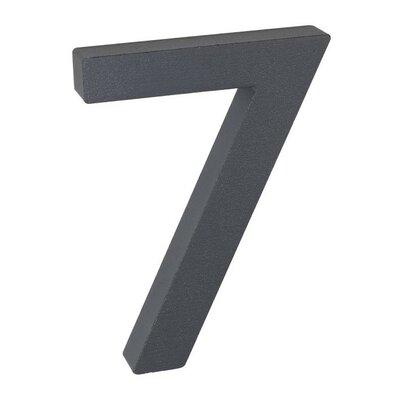 Aluminiowy numer domu 7, 3D powłoka strukturalna
