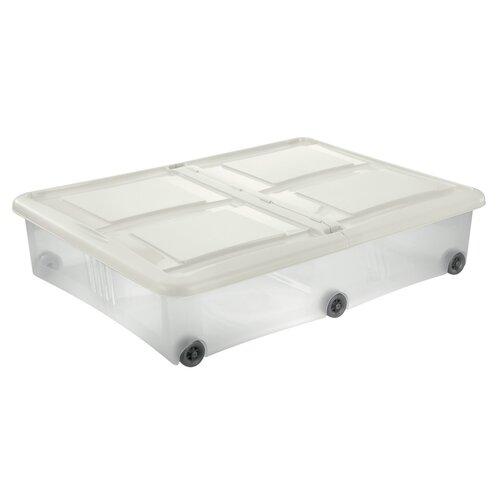 Tontarelli Úložný box s vekom Stockbox 61 l, transparentní/krémová